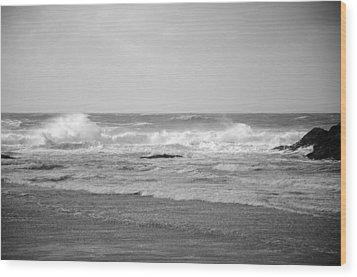 Wind Blown Waves Tofino Wood Print