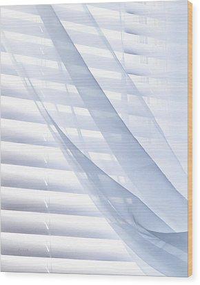 Wind Blue Window Wood Print by Bob Orsillo