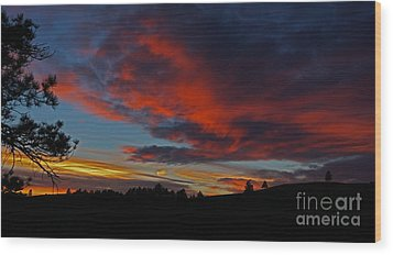 Black Hills Sunset Wood Print