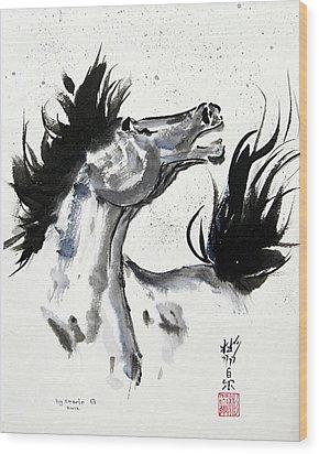 Wind Fire Wood Print by Bill Searle