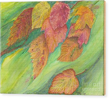 Wind In The Leaves Wood Print by Denise Hoag