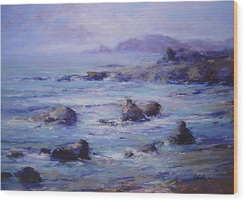 Wind On The Surf Wood Print by R W Goetting