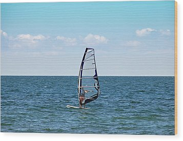 Wind Surfer Wood Print by Aimee L Maher Photography and Art Visit ALMGallerydotcom
