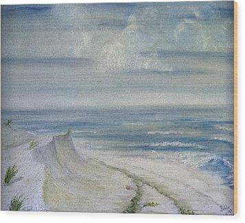 Windblown Wood Print by Judy Hall-Folde