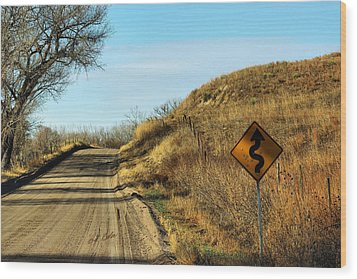 Wood Print featuring the photograph Winding Country Road by Bill Kesler