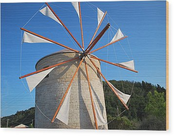 Windmill  2 Wood Print by George Katechis