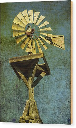 Windmill Abstract Wood Print by Garry Gay