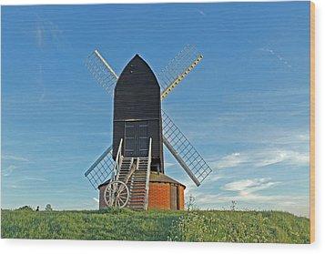 Windmill At Brill Wood Print by Tony Murtagh