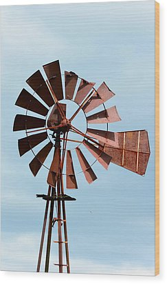 Wood Print featuring the photograph Windmill by Cathy Shiflett