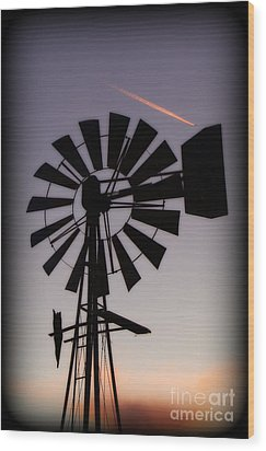Wood Print featuring the photograph Windmill Close-up by Jim McCain