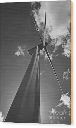 Wood Print featuring the photograph Windmill by Inge Riis McDonald