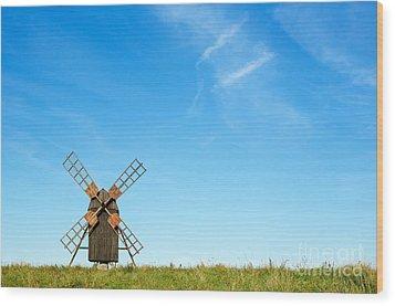 Windmill Portrait Wood Print