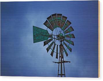 Windmill Wood Print by Rowana Ray