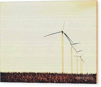 Windmills 1 Wood Print