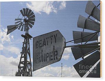 Windmills 1 Wood Print by Bob Christopher