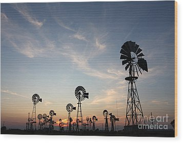 Windmills Wood Print