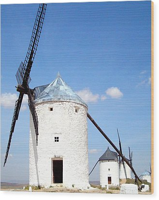Windmills Wood Print by Kay Gilley