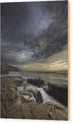 Windnsea Light Found Wood Print by Peter Tellone