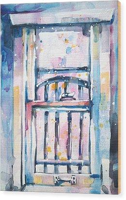 Window 1 Wood Print by Kelly Johnson