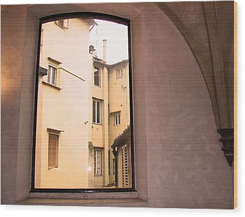 Window And Arch Wood Print
