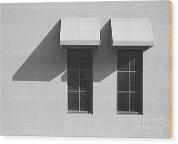 Window Awnings Shadows Wood Print