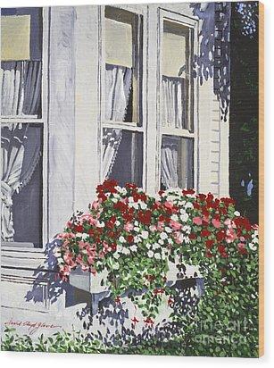 Window Box Colors Wood Print by David Lloyd Glover