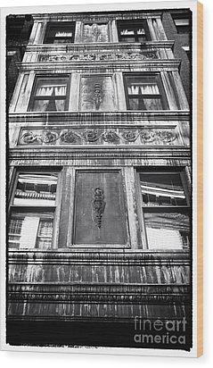 Window Design Wood Print by John Rizzuto