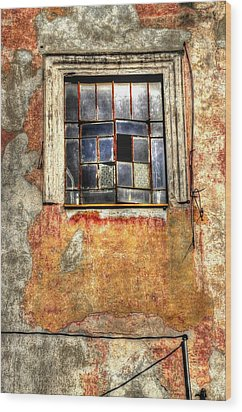 Window Dressing Wood Print