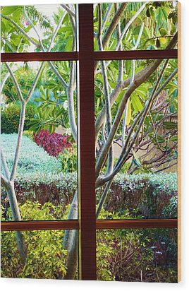 Wood Print featuring the photograph Window Garden by Amar Sheow