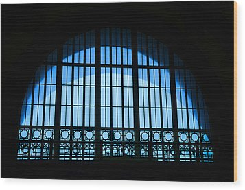 Wood Print featuring the photograph Window In Chattanooga Train Depot by Susan  McMenamin