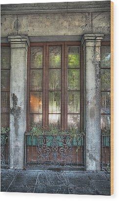 Window In The Quarter Wood Print by Brenda Bryant