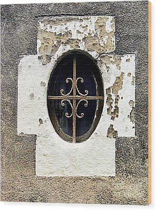 Window In Tour France Wood Print by Catherine Fenner