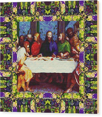 Window Into The Last Supper 20130130m138 Wood Print by Wingsdomain Art and Photography