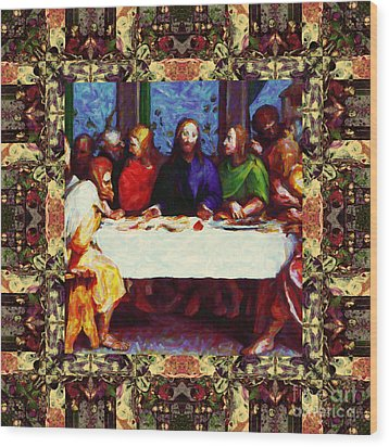 Window Into The Last Supper 20130130sep Wood Print by Wingsdomain Art and Photography
