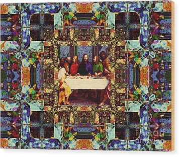 Window Into The Last Supper 20130130v2-horizontal Wood Print by Wingsdomain Art and Photography