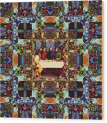 Window Into The Last Supper 20130130v2 Wood Print by Wingsdomain Art and Photography