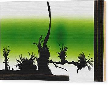 Window Wood Print by Len YewHeng