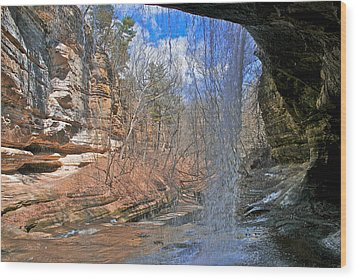 Wood Print featuring the photograph Window Of A Waterfall by Kathleen Scanlan