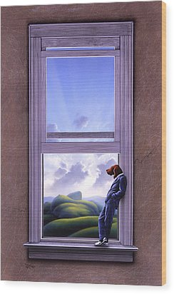 Window Of Dreams Wood Print by Jerry LoFaro
