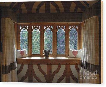 Window Of Hearts Wood Print by Linda Prewer