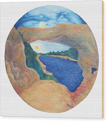 Window Of Heaven Wood Print
