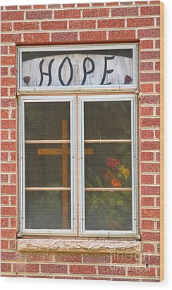 Window Of Hope 2 Wood Print by James BO  Insogna