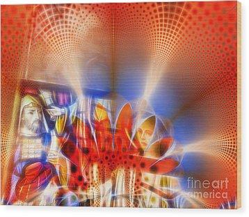 Window Of Illusions Wood Print by Ian Mitchell