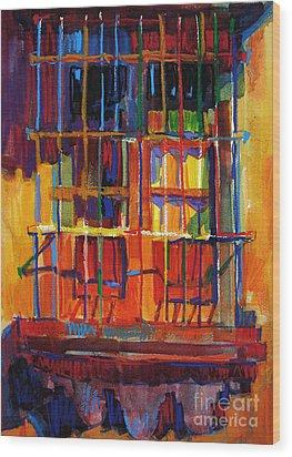 Window On Hot Day Wood Print