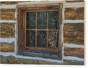 Window Reflection Wood Print by Paul Freidlund