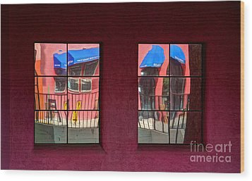 Window Reflections Wood Print by Vivian Christopher