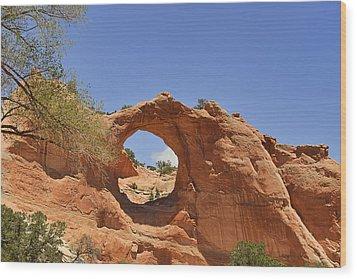 Window Rock Arizona Wood Print by Christine Till