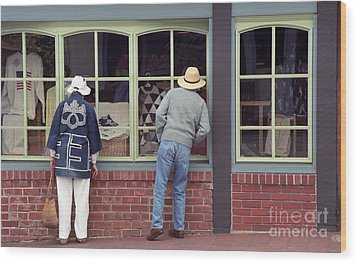 Wood Print featuring the photograph Window Shoppers by James B Toy