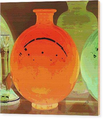 Window Shopping For Glass Wood Print by Ben and Raisa Gertsberg