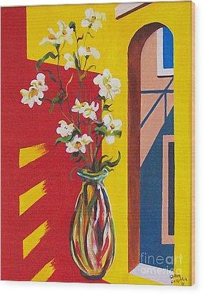 Window Wood Print by Sinisa Saratlic